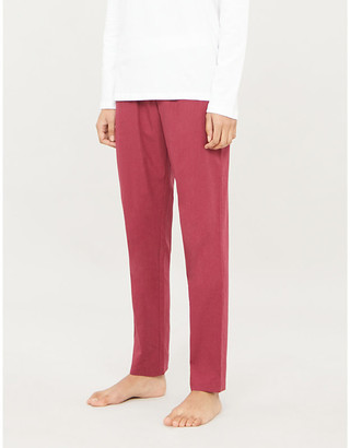 Calvin Klein Logo-waistband cotton-poplin pyjama bottoms