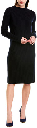 Vince Ribbed Wool & Cashmere-Blend Sweaterdress