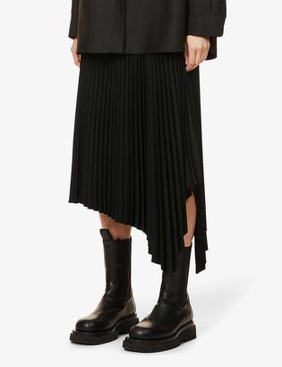 Joseph Swinton pleated high-waist crepe midi skirt