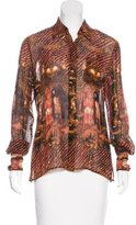 Jean Paul Gaultier Painting Printed Long Sleeve Button-Up