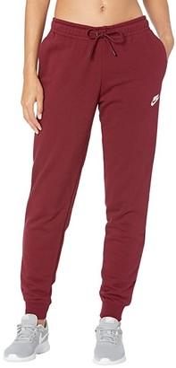Nike NSW Essential Pants Regular Fleece (Black/White) Women's Clothing