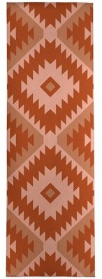 """Millwood Pines Atmore Geometric Rust/Pink Area Rug Rug Size: Runner 2'6"""" x 8'"""