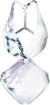 Fleur of England palm cut-out swimsuit - women - Polyamide/Spandex/Elastane - L