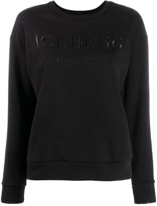 Iceberg Logo Embellished Sweatshirt