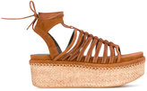 Stuart Weitzman platform sandals - women - Leather/rubber - 35