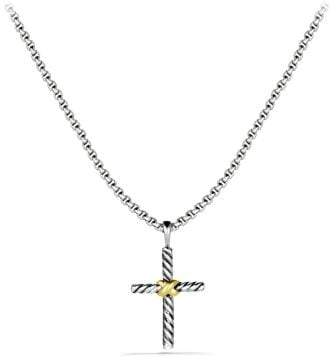 David Yurman Petite X Cross Necklace With 14K Gold