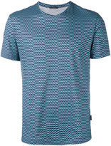 Pal Zileri optical checker board T-shirt - men - Cotton - S