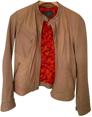 Cole Haan Beige Leather Jacket for Women