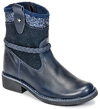 Citrouille et Compagnie HAYO girls's Mid Boots in Blue