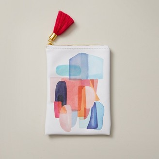 Indigo Paper Large Pencil Pouch Boho Bright Layered Shapes