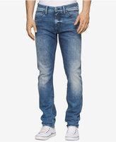Calvin Klein Jeans Men's Sculpted Uneven Blue Jeans