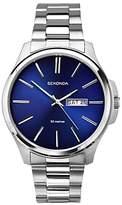 Sekonda 1224.27 Day Date Bracelet Strap Watch, Silver/blue