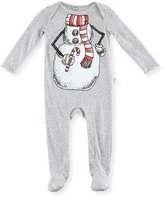 Stella McCartney Rufus Snowman Footie Pajamas, Size 3-9 Months