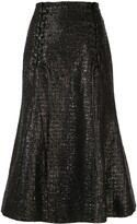 Olivier Theyskens metallic fishtail skirt