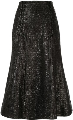 Olivier Theyskens Metallic Fishtail Skirt