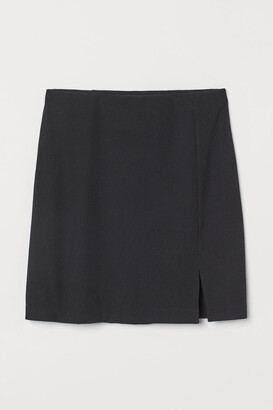 H&M Fitted jersey skirt