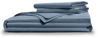 Pillow Guy Full/Queen Classic Cool & Crisp 100% Cotton Percale Duvet Cover Set - Cadet Blue
