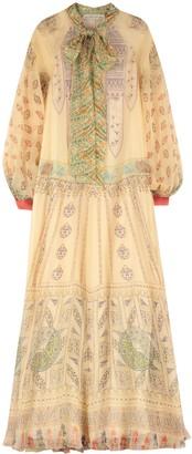 Etro Printed Organza Gown
