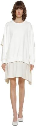 MM6 MAISON MARGIELA Cotton & Satin Sweater Dress
