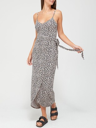 Very Jersey Wrap Midi Dress - Animal
