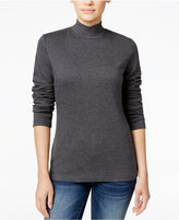 Karen Scott Petite Mock-Neck Top, Only at Macy's