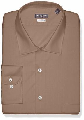 Van Heusen Mens Big Fit Flex Collar Stretch Solid (Big and Tall) Dress Shirt