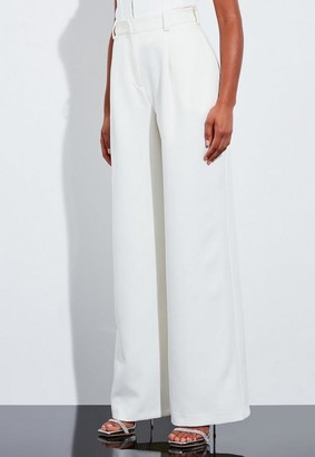 Missguided Ivory Super High Waisted Wide Leg Pants