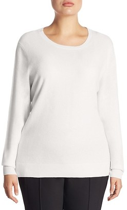 Saks Fifth Avenue Plus Crewneck Cashmere Knitted Sweater