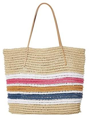 Hat Attack Trio Stripe Tote (Multi) Handbags