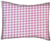 SheetWorld Percale Twin Pillow Case - Pink Gingham Check - Made In USA