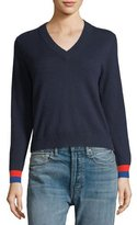 Kule Cashmere Sawyer V-Neck Sweater Top