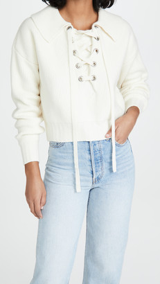 Philosophy di Lorenzo Serafini Lace Up Collar Sweater