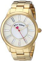 Betsey Johnson Women's BJ00433-02 Analog Display Quartz Gold Watch