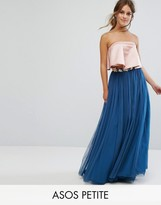Asos Tulle Maxi Skirt With Embellished Waistband