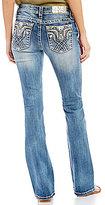 Miss Me Tribal Pocket Stretch Denim Bootcut Jeans