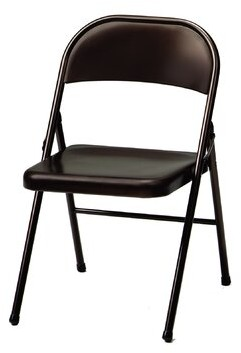 MECO Corporation All Metal Folding Chair Color: Black Lace