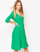 Asos Pleated Midi Dress in Crepe
