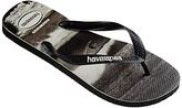 Havaianas Sea Photo Flip Flops, Black/white