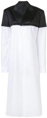 Comme des Garcons Panelled Long Jacket