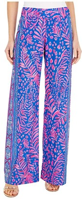 Lilly Pulitzer Bal Harbour Mid-Rise Pala (Pundy Blue La Zebra Engineered) Women's Casual Pants