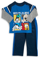 Nannette Baby Boys Mickey Mouse and Friends Long Sleeve Tee and Pants Set