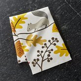 Crate & Barrel Acorn Forest Dish Towel