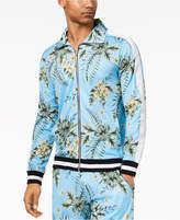 American Stitch Men's Floral-Print Full-Zip Mesh Track Jacket