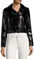 Vigoss Women's Cropped Moto Jacket