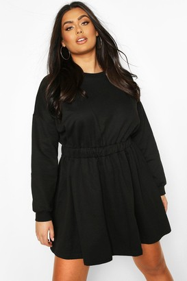 boohoo Plus Elasticated Waist Sweat Dress