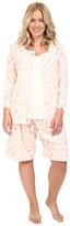 Carole Hochman Plus Size Three-Piece Bermuda Pajama Set