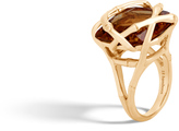 John Hardy Bamboo Ring in 18K Gold with 19MM Gemstone
