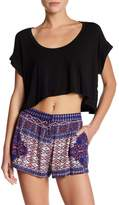 Flynn Skye Kira Hi-Lo Crop Shirt