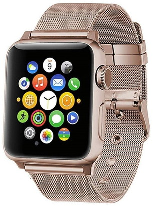 Posh Tech Rose Gold Stainless Steel 42mm Apple Watch 1/2/3/4 Band