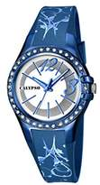 Calypso Women's Quartz Watch with Silver Dial Analogue Display and Blue Plastic Strap K5624/F